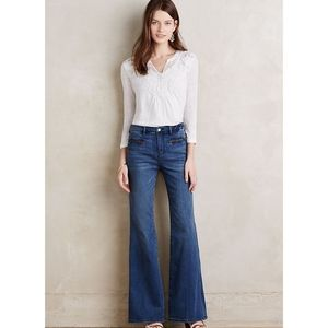Anthro Pilcro Letterpress High Bellbottoms Jeans